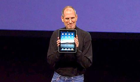 Steve Jobs introduces the iPad.