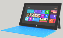 Microsoft Surface Tablet with Metro UI